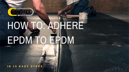 how to adhere epdm to epdm3
