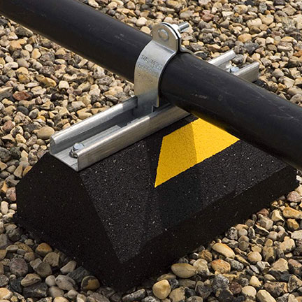 c10 rubber pipe supports base application